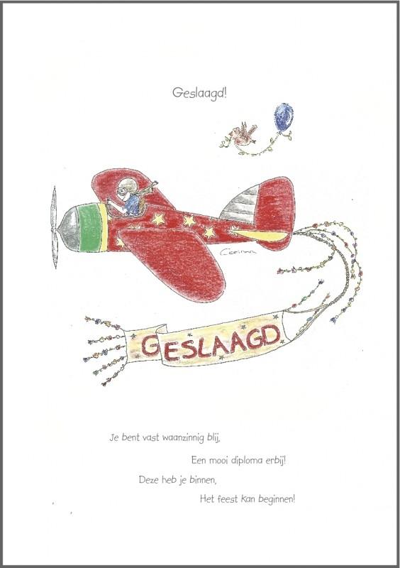 """Wenskaart `Geslaagd"""""""