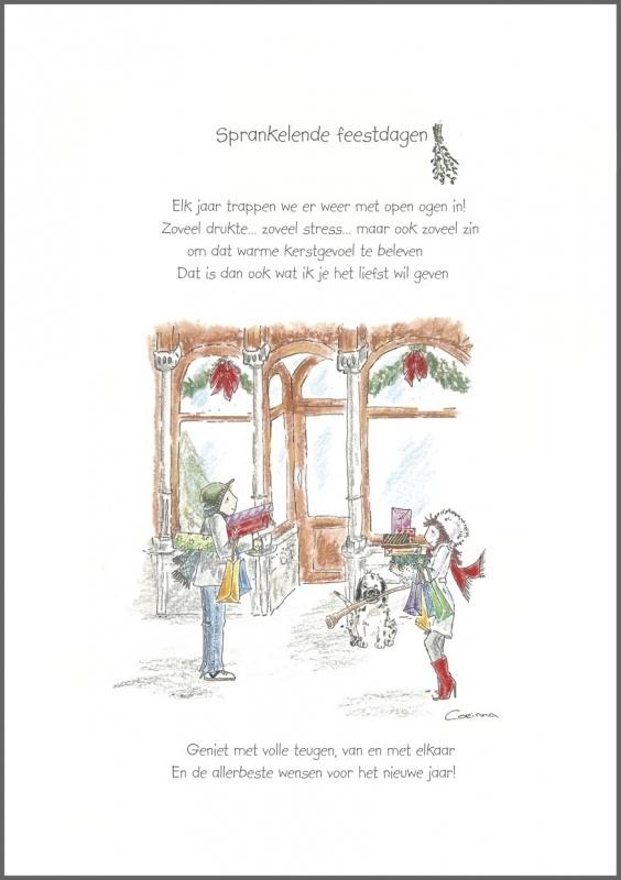Wenskaart 'Sprankelende Feestdagen'