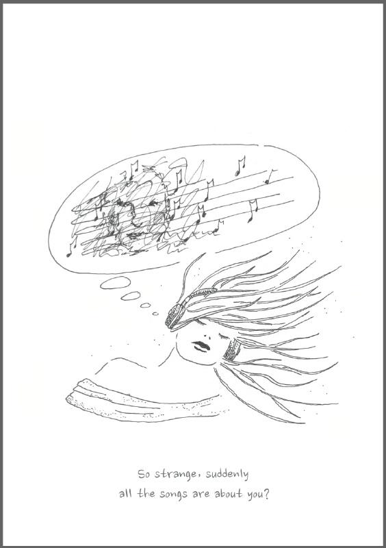 Feather Wenskaart: Strange...
