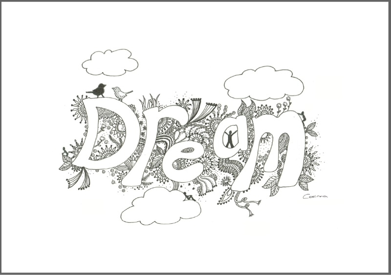 Feather Wenskaart: Dream