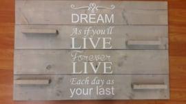 Wandbord steigerhout Dream