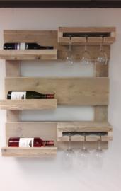 Wijnrek klein - Gebruikt Steigerhout