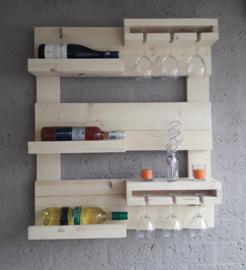 Wijnrek klein - Nieuw Steigerhout