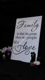 Tekstbord Family