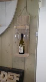 Steigerhouten wijnplankje