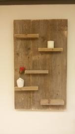 Wandbord 60 cm Verticaal gebruikt steigerhout