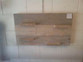 Wandbord gebruikt steigerhout 60cm hoog horizontaal