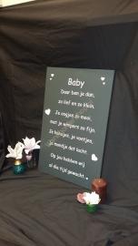 Tekstbord Baby
