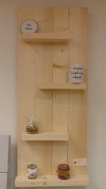 Wandbord nieuw steigerhout 40 breed verticaal