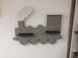 Wandbord trein greywash