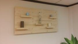Wandbord nieuw steigerhout 60 hoog horizontaal