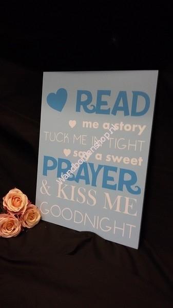 Tekstbord Read me a story