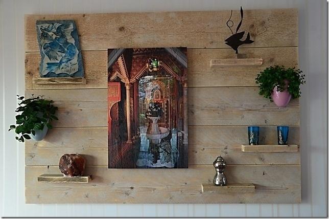 Wandbord gebruikt steigerhout 100cm hoog horizontaal