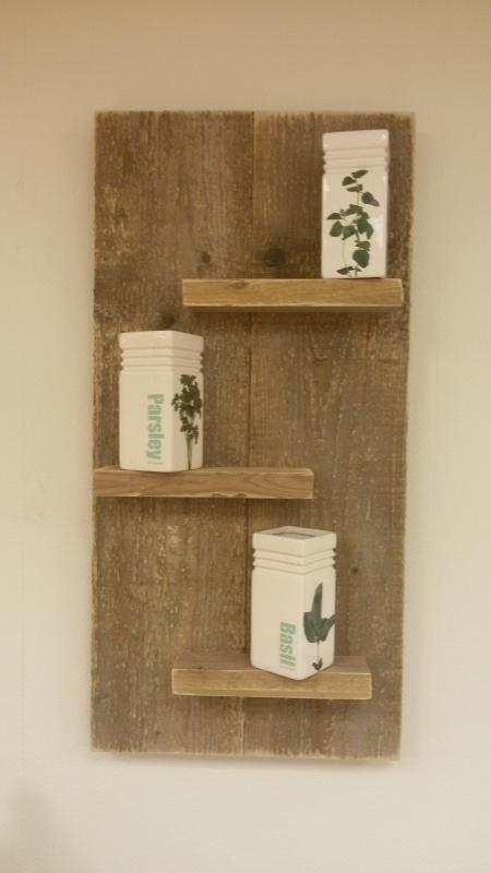 Wandbord 40 cm Verticaal gebruikt steigerhout