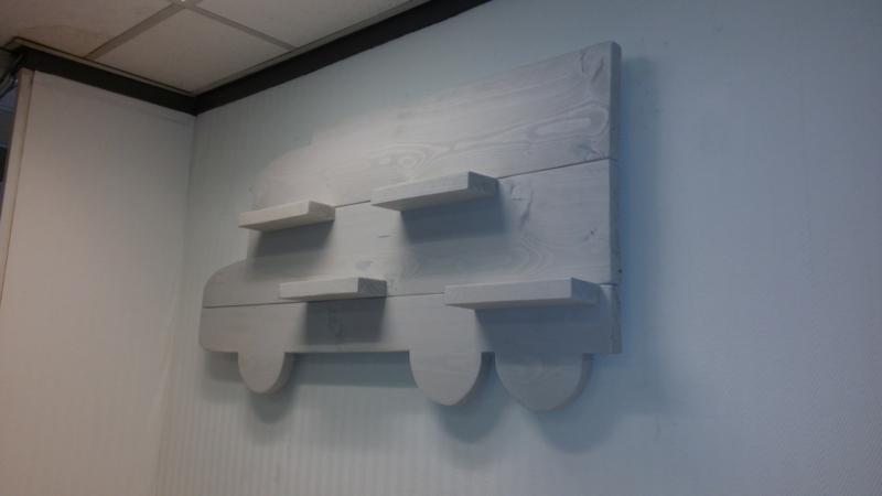 Wandbord Vrachtwagen white wash