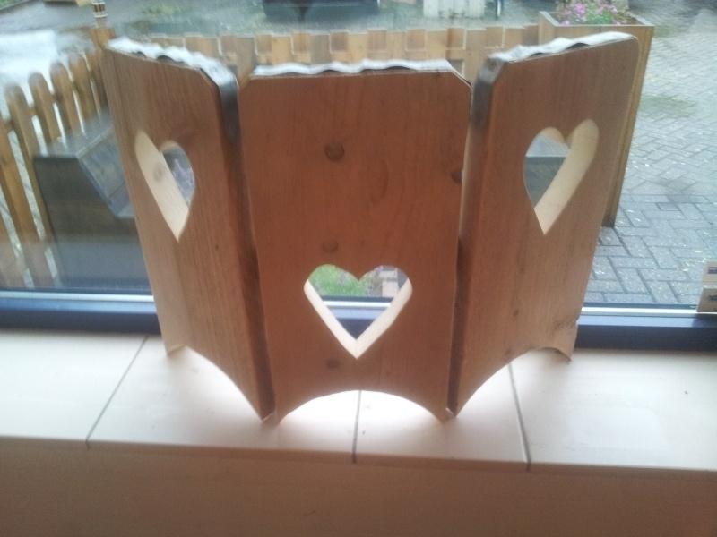 Raamluik klein hart