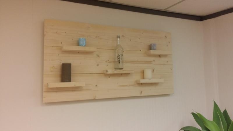 Wandbord nieuw steigerhout 80 hoog horizontaal