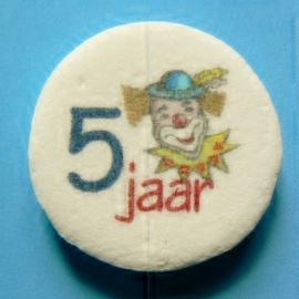 5 jaar met clown