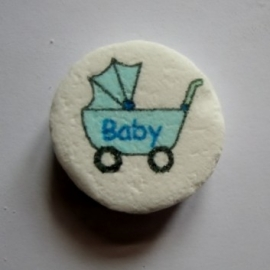 Baby wandelwagen blauw