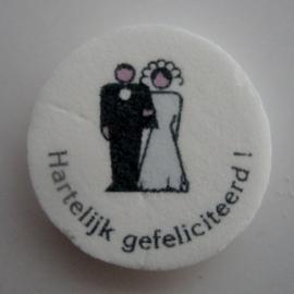 Hartelijk gefeliciteerd bruidspaar klassiek