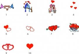 Voorbeeldjes met hartjes