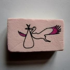 Ooievaar roze vleugels