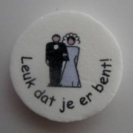Leuk dat je er bent bruidspaar klassiek