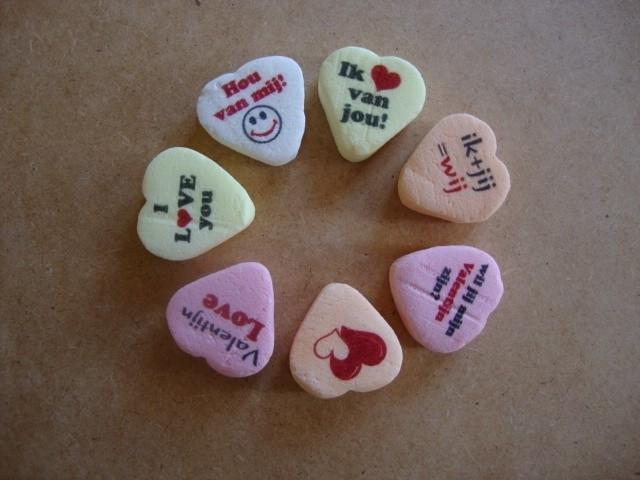 Valentijn hartjes 22 mm assortiment 1 kg