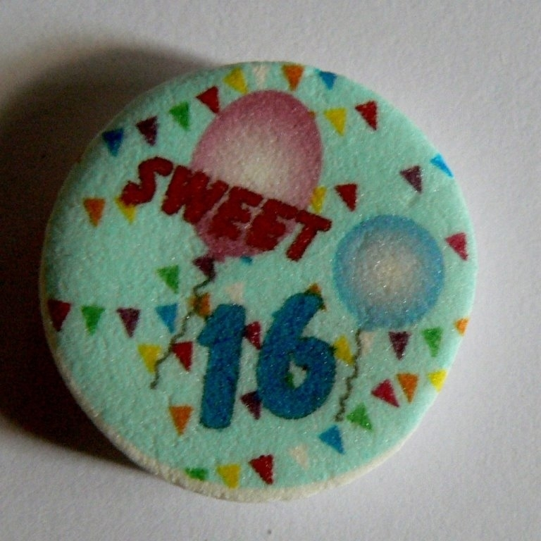 Sweet sixteen vlaggetjes