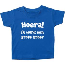 Kinder T-shirt: Hoera! ik word een grote broer
