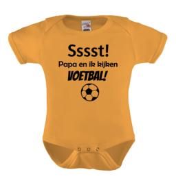 Baby romper: Sssst papa en ik kijken voetbal