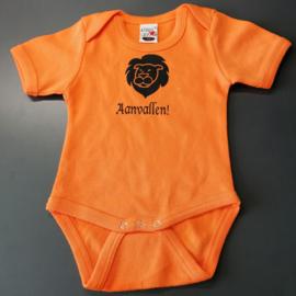 Oranje EK baby romper: Aanvallen (maat 68)