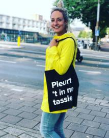 Katoenen tas: Pleurt 't in me tassie