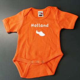 Oranje EK baby romper: Holland (maat 56 + 68)
