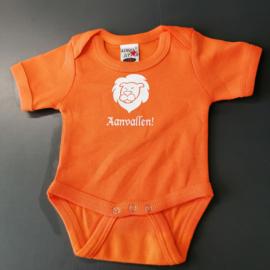 Oranje EK baby romper: Aanvallen (maat 56 + 80)