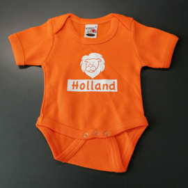 Oranje EK baby romper: Holland (maat 56)