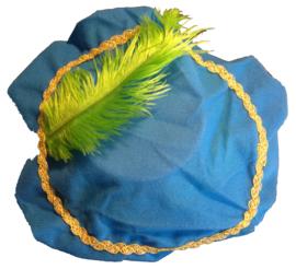 Pietenmuts met naam blauw