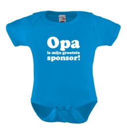 Opa is mijn grootste sponsor!