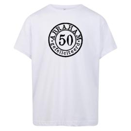 T-shirt: Abraham 50 jaar stempel