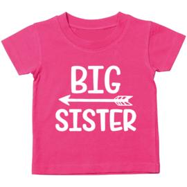 Kinder T-shirt: Big sister met pijl