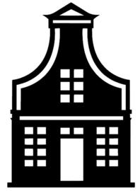 Autosticker: Zaans huisje