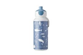 Drinkfles pop- up Ocean Little Dutch met naam - Mepal