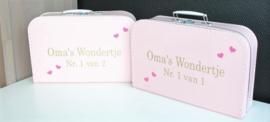 set koffertjes voor tweeling 1 van 2/ 2 van 2/ oma's Wondertje