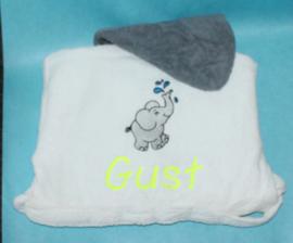 Luxe badjas met naam + olifantje ( 2-4 jr.)