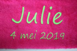 Handdoek met naam + datum