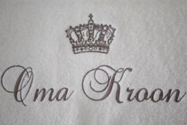 Badlaken met naam + kroon