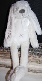 Rabbit Richie 38 cm met tekst: oma's lieveling