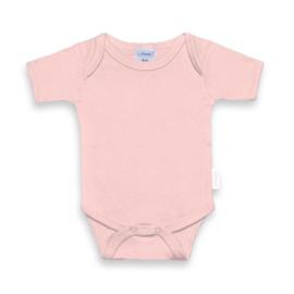 Baby roze romper met naam bedrukt 62-68
