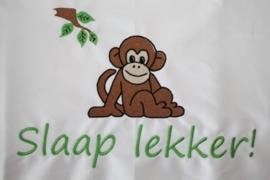 Ledikantlaken met naam + aap