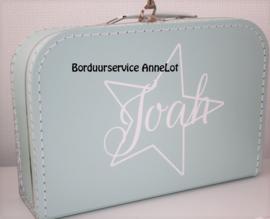 Koffertje  met naam + ster